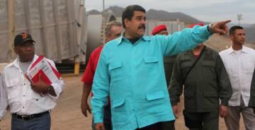 Maduro, durante una visita a Puerto La Cruz, el jueves pasado.