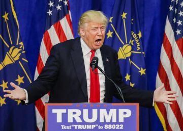 Trump, el lunes en un acto en Indiana