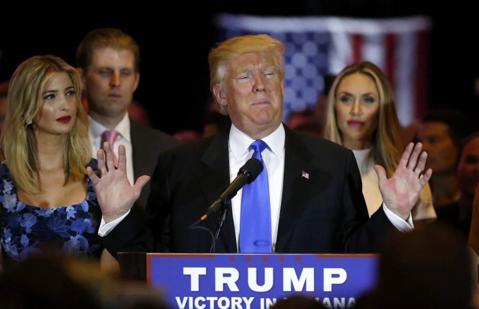 Trump, comparece este martes en Nueva York, tras ganar en Indiana