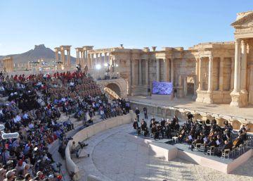 Rusia celebra un concierto de música clásica ente las ruinas de Palmira
