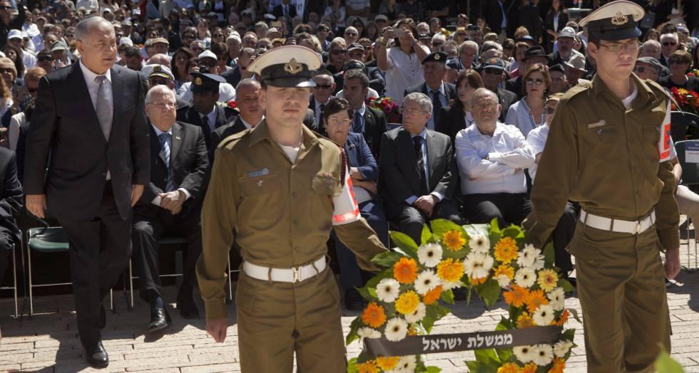 Benjamín Netanyahu, en los actos del Día del Holocausto en Jerusalén.