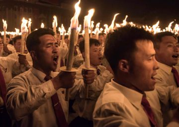"""""""Nuestro mariscal, Kim Jong-un, vela para el bien de su pueblo"""""""