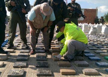 Colombia incauta ocho toneladas de cocaína, la partida más grande de su historia