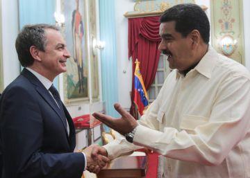 Maduro se reúne con Zapatero y el expresidente de Panamá Torrijos