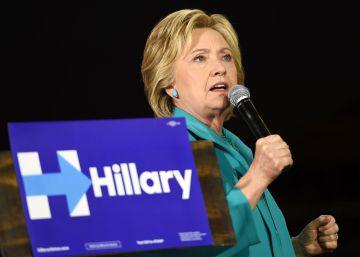 La candidata demócrata Hillary Clinton en Los Ángeles.