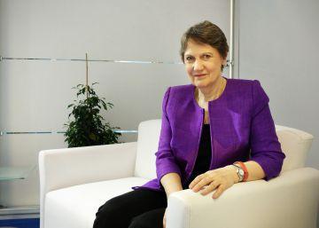 La administradora del PNUD, Helen Clark, durante la entrevista con EL PAÍS el día 24 en Estambul