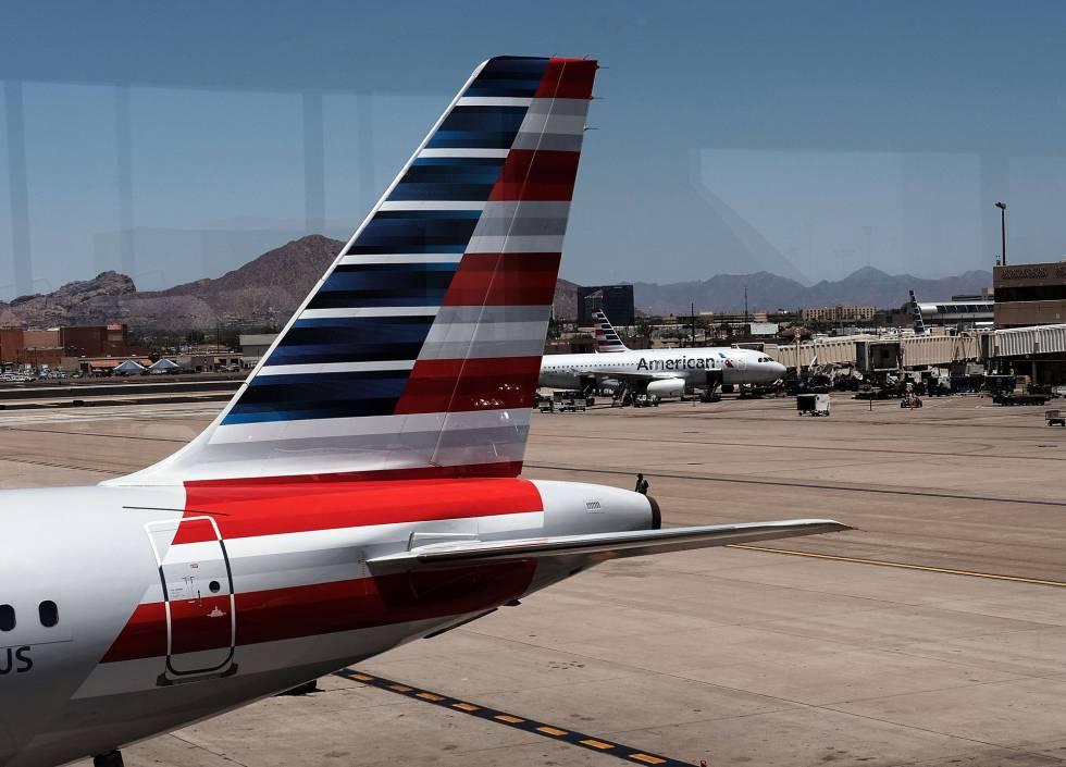 Imagen de archivo de un avión de American Airlines en EE UU.