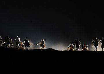 Recreación de la batalla de Verdún.