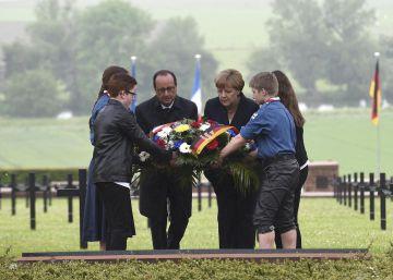 Merkel y Hollande alertan en Verdún contra el nacionalismo
