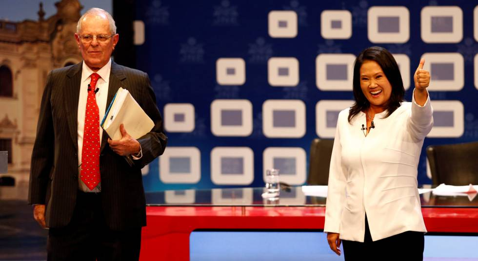 Los candidatos presidenciales de Peru, Pedro Kuczynski y Keiko Fujimori.