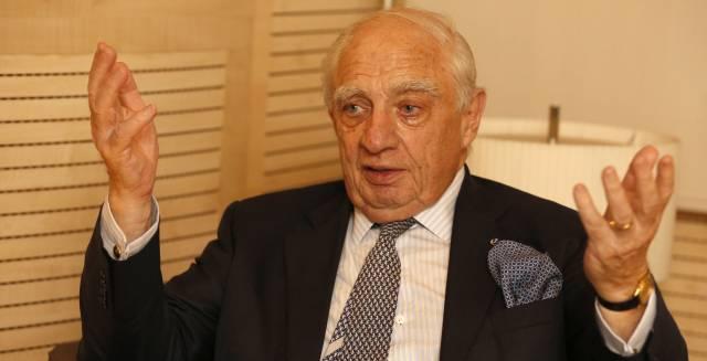 El secretario de la ONU para las migraciones, Peter Sutherland, en Madrid.
