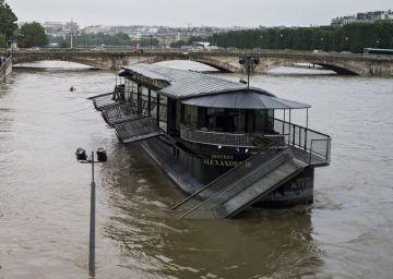 El Sena alcanzará hoy los seis metros de altura en medio de fuertes inundaciones en Francia