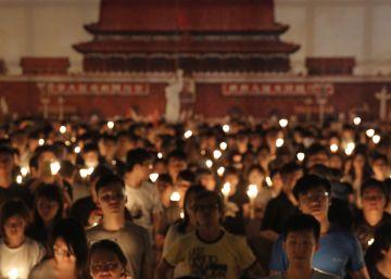 Hong Kong rinde homenaje a las víctimas de Tiananmen