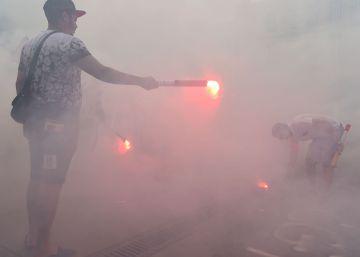 La Eurocopa arranca con huelgas y paros pese a las cesiones de Hollande