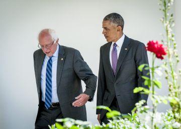 Sanders promete cooperar en la lucha contra Trump tras reunirse con Obama