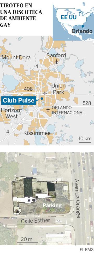 Mapa del Club Pulse Orlando