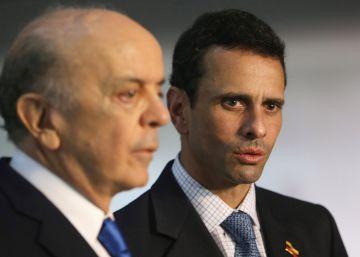 """Capriles pide el """"fin de la indiferencia brasileña"""" ante la crisis de Venezuela"""