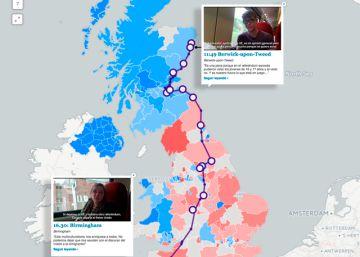 Especial | Reino Unido de norte a sur en 13 horas a bordo del tren del 'Brexit'
