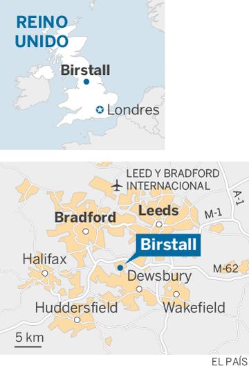Mapa de localización de Birstall (Reino Unido)