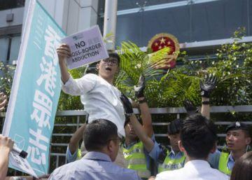 Protestas en Hong Kong contra el secuestro de 5 libreros