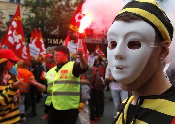 Los sindicatos franceses fuerzan al Gobierno a autorizar una protesta prohibida
