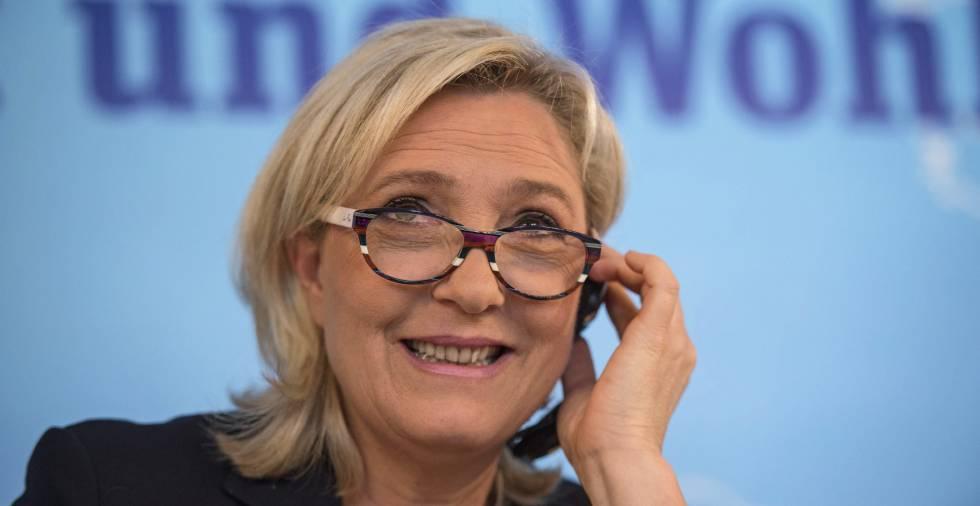 La líder francesa del Frente Nacional (FN), Marine Le Pen, en una conferencia de prensa en Viena el 17 de junio.