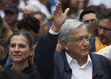 Andrés Manuel López Obrador, en el paseo de Reforma.