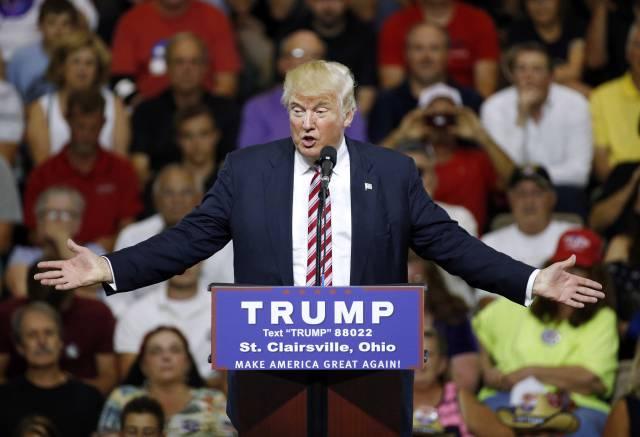 Donald Trump, el martes, en Ohio.