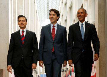 Obama, Trudeau y Peña Nieto se conjuran contra el proteccionismo