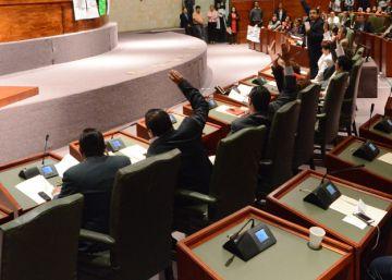 Los diputados del Congreso de Oaxaca durante una sesión legislativa.