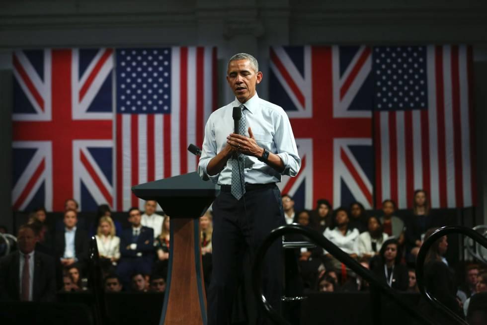 El presidente Obama da un discurso en Londres