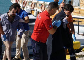 Cuatro muertos, entre ellos dos niños, en un naufragio en Lesbos