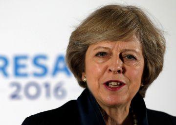 Theresa May, durante una reunión del Partido Conservador, este 11 de julio.