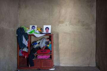El retrato de uno de los siete leñadores asesinados hace un mes en la zona serrana del municipio.