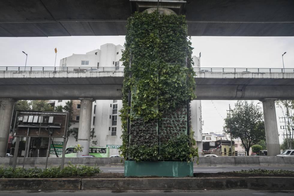 Jardines verticales para la avenida m s congestionada de for Jardines verticales mexico