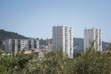 Vários edifícios do bairro de St. Roche, em Nice.