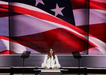 Las acusaciones de plagio a Melania Trump empañan su presentación ante EE UU