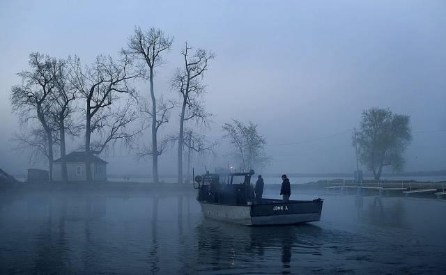 El Lago Erie, en las inmediaciones de Port Clinton, Ohio.