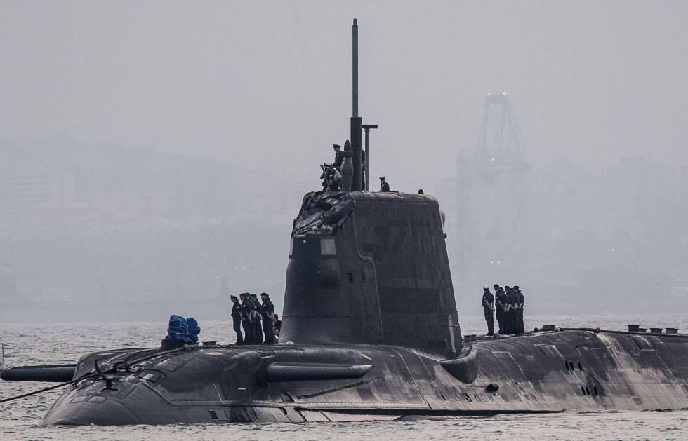 El submarino 'Hms Ambush', en el puerto de Gibraltar, este jueves.