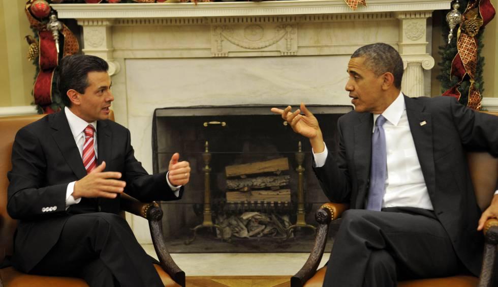 Reunión entre Peña Nieto y Obama en noviembre de 2012 en la Casa Blanca.