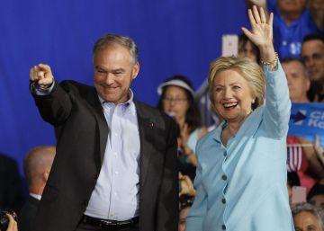 Kaine y Clinton, en el mitin de presentación este sábado en Miami