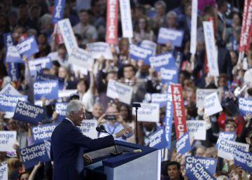 Un instante del discurso de Bill Clinton.