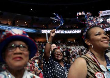 Delegadas demócratas en Filadelfia.