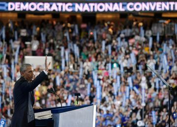 Barack Obama pasa la antorcha demócrata a Hillary Clinton