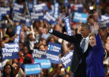 Obama confía en Clinton para frenar la amenaza de Trump