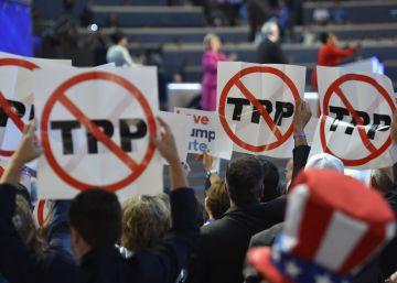 Os democratas renegam tratado comercial realizado e enaltecido por Obama