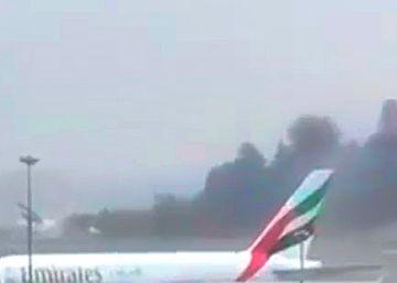 Un vuelo de Emirates sufre un accidente al aterrizar en Dubái