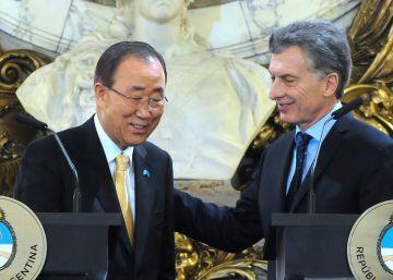 Ban Ki-moon destaca el nuevo perfil internacional de Argentina