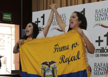 El colectivo 'Rafael Contigo Siempre' busca la reelección de Correa