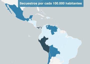 Los secuestros en Latinoamérica, país a país